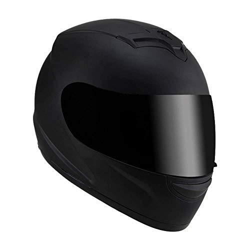 Lounayy Sport-Motorrad-Helm,Helmets Integralhelm Motorrad Roller Sturz Klapphelm Basic Mode Helm Verspiegeltem Visier Mit Sonnenblende Größe (56-60Cm) Sale Coole Sachen (Color : F)