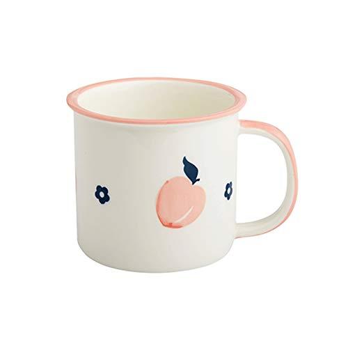 FEIYIYANG Tazas Fruta Creativa Imitación Esmalte Agua Copa Leche Café Cerámica Copa Cerámica Personal Simple Copa Cerámica 350ml Taza (Color : Pink)