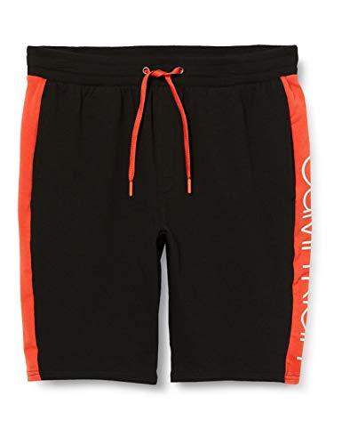 Calvin Klein Sleep Short Pantalones de Pijama, Negro (Black W/Inferno Piecing 001),...