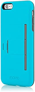 iPhone 6S Plus Case, Incipio Stowaway [Kickstand][Credit Card] Wallet Cover fits iPhone 6 Plus, iPhone 6S Plus - Blue/Gray