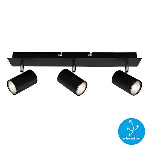 Briloner Leuchten Plafondspot, draaibaar, plafondlamp, 3-spots, GU10, max. 40 watt, zwart, W