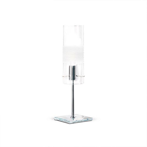 Xilo–Lámpara de mesa cristal rectificada H46cm–Lámpara de mesa de majo designé par