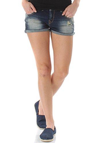 LTB Jeans Damen Judie Shorts, Blau (Elysium Wash 50768), 38 (Herstellergröße: M)