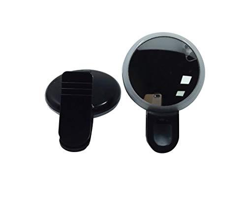 RRUII Ancre De Miroir De Maquillage LED Live Mini Beauté Retardateur De Remplissage LumièRe Live Clip Portable Charge Multifonction,Black,62 * 42 * 29mm