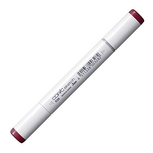 COPIC Sketch Marker Typ R - 39, Garnet, professioneller Pinselmarker, alkoholbasiert, mit einer Super-Brush-Spitze und einer Medium-Broad-Spitze
