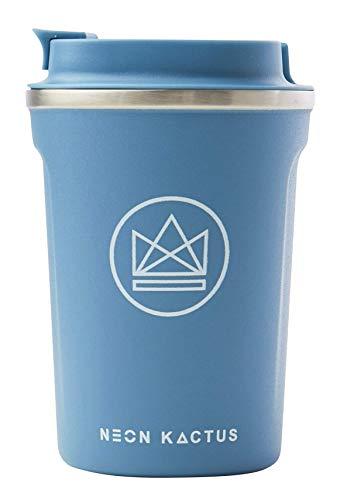 Neon Kactus - Taza térmica reutilizable para café, diseño de Kactus Azul pastel.