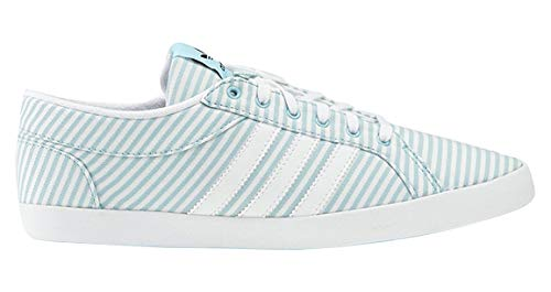 adidas Adria Low Damen Sneakers (37 1/3 EU, Blau/Weiß)
