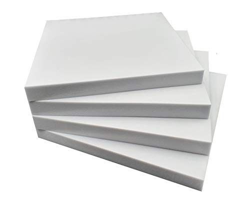 Basotect® 4x G+ Schall-Absorber-Platten  500x500x50mm - 1 Quadratmeter - High-End Akustik Schaumstoff - Für Raumakustik bei Heimkino - Keller etc