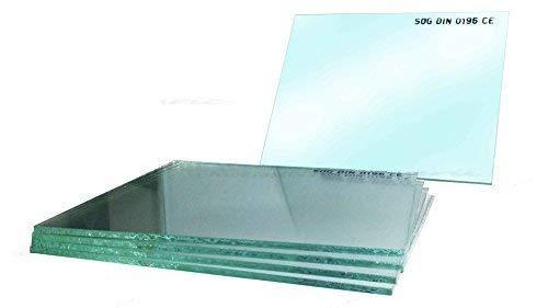 10 Stück Schweißschutzglas/Vorsatzgläser 90 x 110mm 1Stück hell/klar