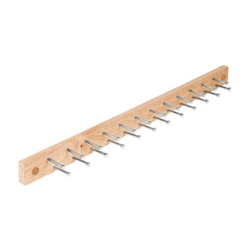 Spectrum Diversified Tie and Belt Rack, Wall Mount, 24-Peg, Wood/Natural