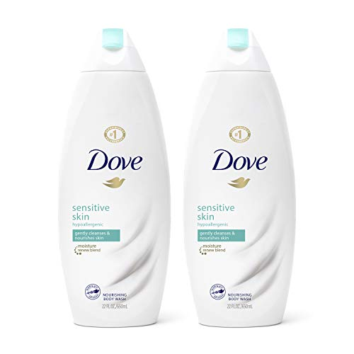 Dove Sensitive Skin Body Wash Hypoallergenic Gently Cleanses & Nourishes Skin Sensitive Skin Moisturizing and Sulfate Free 22 oz, 2 Count