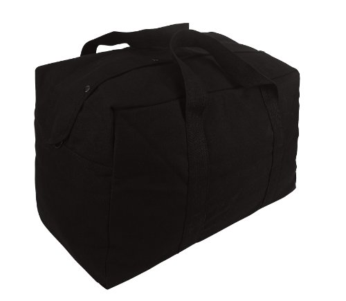 Rothco Canvas Parachute Cargo Bag, Black