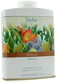 Taylor of London Delicate Freesia Luxury Talcum Powder, 7.0 Oz