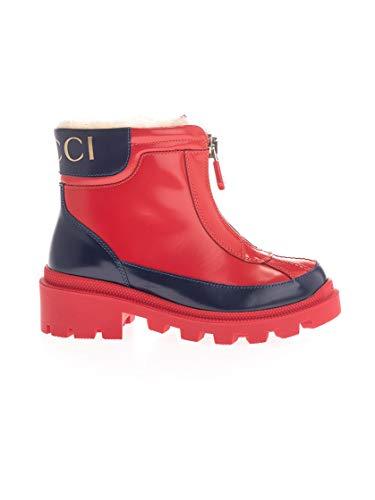 Luxury Fashion | Gucci Meisjes 580728D73F04568 Rood Leer Enkellaarzen | Herfst-winter 19
