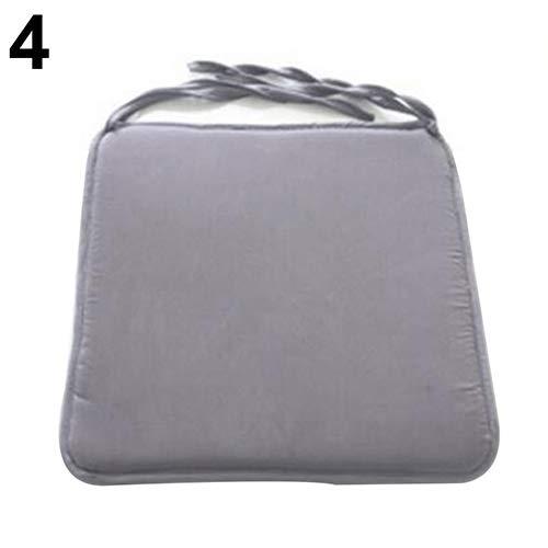 RIsxffp Coussin de chaise souple amovible Light Grey ★ Removable Cushions Seat Pad