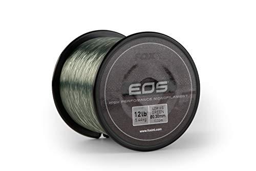 FOX EOS Mono Monofilament Line Spool 1000m Low Vis Green Carp Fishing (12lbs - 0.30mm)