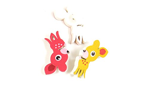Best Prices! 500 Pieces Sewing Sew On Buttons BT21253 Mixed Deer Wooden Wood Arts Crafts Notions Sup...