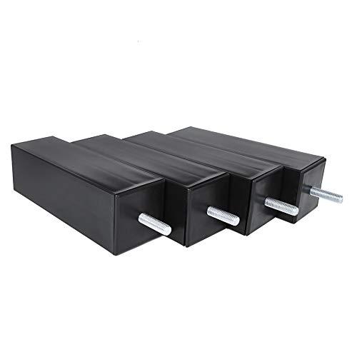 Oumefar Square 150 pies de plástico de Tornillo M8 Alto para Muebles y sofá Kr-p0166 (Paquete de 4) para decoración de Muebles