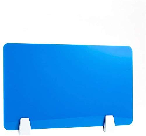 Fswallow Mattierte Schreibtisch-Trennwand, AcrylBildschirmplatte, DatenschutzTrennwand Bürotrennwand Trennwand DesktopTrennwand Abschirmungen für Testaufgaben 50 cm x 30 cm blau