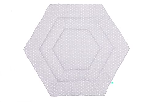 Fillikid Laufstalleinlage 6-eckig Exclusiv | Laufgittereinlage 124 cm | Schutzeinlage Laufgitter weich gepolstert