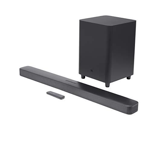 JBL Bar 5.1 Surround - Barra de Sonido con Subwoofer, con Integración de Alexa, 5.1 Canales, 550 W, Inalámbrico, Color Negro