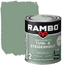 Rambo - Pantserbeits - Tuin & Steigerhout - Dekkend - Zijdeglans - Makkelijk Verwerkbaar - Waterproof - Helmgroen - 0.75 L...