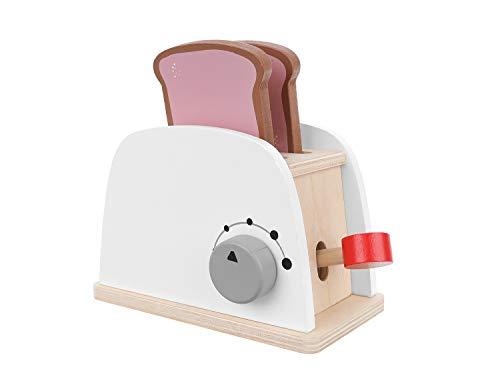 ISO TRADE Toaster mit Hebelfunktion Frühstücksspielzeug Küchenzubehör aus Holz 11227