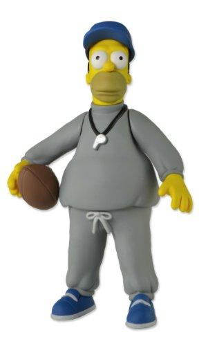 NECA 16006Simpsons Homer Coach Action Figur, grau, blau, gelb, 5–Zoll