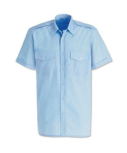 Alexandra STC-SG2PB-20 Herren Pilotenhemd, einfarbig, 65% Polyester/35% Baumwolle, Größe: 20, Hellblau