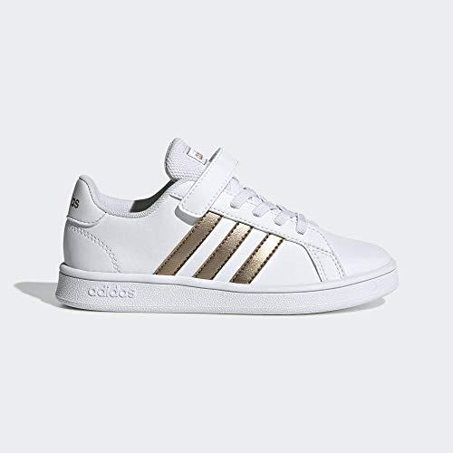 adidas Grand Court C, Zapatillas de Tenis Unisex Niños, Multicolor Ftwwht Coppmt Glopnk 000, 31 EU