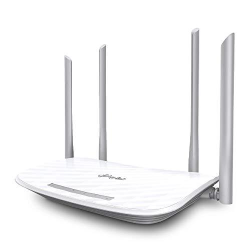 TP-Link Archer C5 AC1200 Dualband Gigabit WLAN Router (867Mbit/s (5GHz) + 450Mbit/s (2,4GHz), 4 Gigabit LAN Ports, 2 USB 2.0, Print/Media/FTP Server, APP Steuerung) weiß