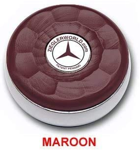 Why Choose Zieglerworld Table Medium Shuffleboard Puck Weights - 4 Pucks - Maroon Colors + Booklet