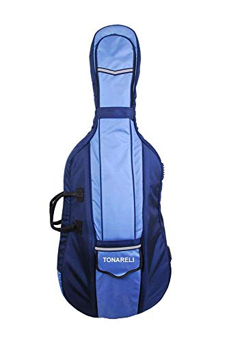 Tonareli Designer Cello Gig Bag - Blue Two-toned - 4/4