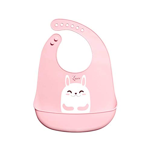 N-B Babero de silicona para niños, babero de silicona para bebé, saliva, bolsillo impermeable, fácil de limpiar