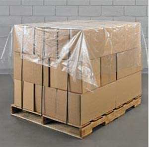 Packisafe 500 x Pallet Top Cover Strong Protective Polythene Sheets 1300mm x 1500mm