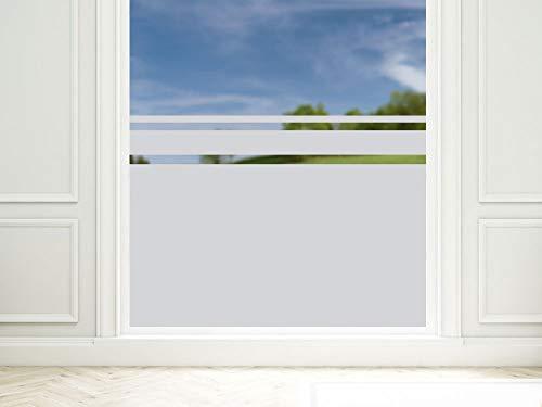 GRAZDesign Sichtschutzfolie Fenster Streifen, Fensterfolie zur Deko/Sichtschutz, Glasdekorfolie Blickdicht / 90x57cm