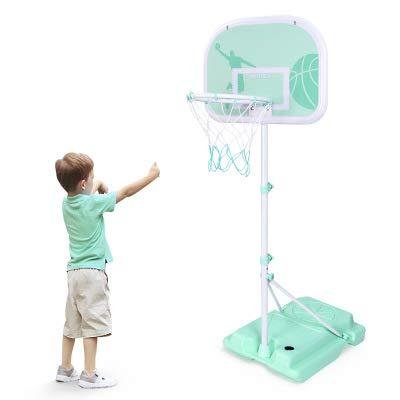 BYASW Canasta de Baloncesto Ajustable Altura Aro de Baloncesto para Interior al Aire Libre Mini Deportes Niños Juguete Educativo