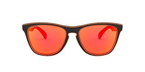 Oakley Unisex Frogskins Sonnenbrille, Raceworn Orange/Prizm Ruby, 55 mm