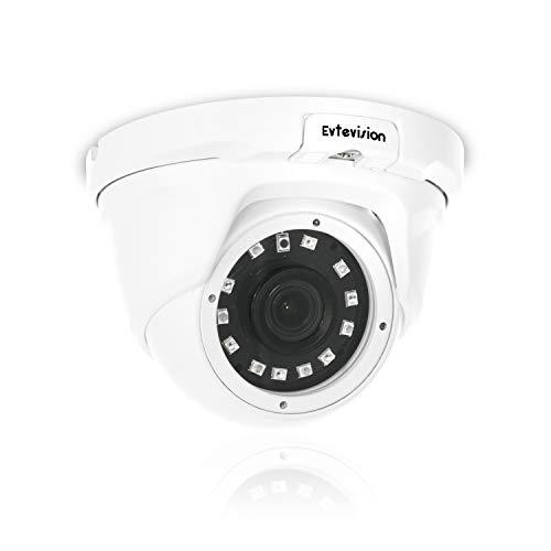 Evtevision PoE Cámara de Seguridad 5MP H.265 IP Cámara Domo,Soporte Onvif, Acceso Remoto, Detección de Movimiento,Cámara de vigilancia Visión Nocturna Interior/Exterior