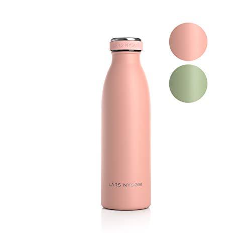 Lars NYSØM Bottiglia da 1 litro in Acciaio Inox | Bottiglia isolata Senza BPA 1000ml | Bottiglia d'Acqua a Tenuta stagna per Sport, Bicicletta, Cane, Bambino, Bambini
