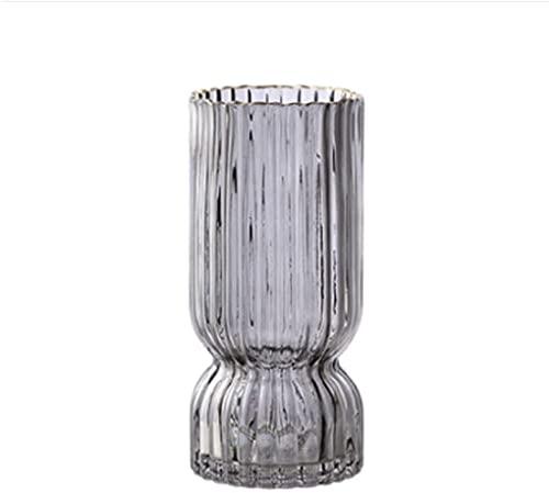 Jarrón de cristal transparente Florero de cristal grande Florero vertical Florero 24...