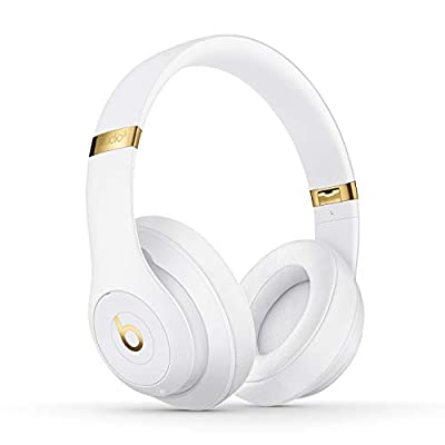 Beats Studio3 Wireless Noise Cancelling Over-Ear Headphones - Apple W1 Headphone Chip, Class 1 Bluetooth, Active Noise Cancelling, 22 Hours Of Listening Time, Built-in Microphone - White from Apple Computer