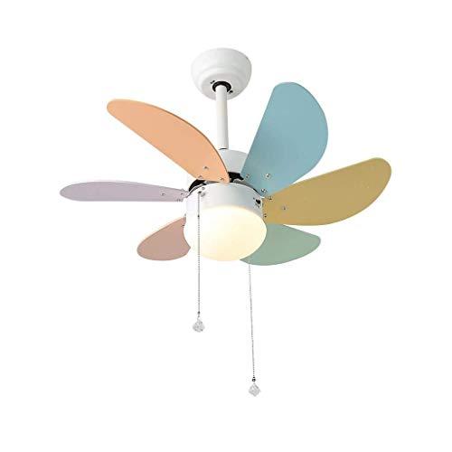 LZQBD Lámparas de Araña, Luces Colgantes, Ventilador Decorativo Ventilador de Techo Ligero Adecuado para Dormitorio Habitación para Niños Restaurante Sala de Estar Color Led