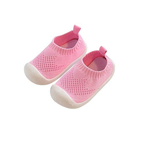 DEBAIJIA Lauflernschuhe Babyschuhe 1-4 Jahre Kinder Schuhe Kleinkind Jungen Mädchen Weiche Sohle rutschfeste Mesh Atmungsaktiv Leichte Slip-on Turnschuhe Draussen