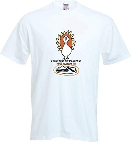 RISKYT Een Turkije is niet alleen voor Kerstmis Er Boksen Dag Te Voetbal Jongens & Meisjes Waarde T-Shirt Kleuren Zwart/Wit -