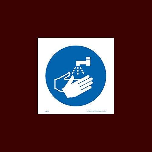 Wash Hands Symbol-Aufkleber, selbstklebend, Vinyl, Mmg5, Müll, Maschine, Geschirr, Wacher, Horn, Stapel