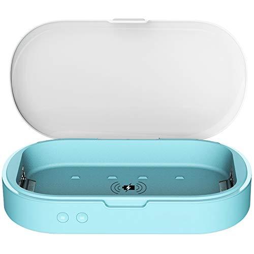 UVC Ultraviolet Lights mobiele telefoon Sanitizer Box met 10W 3.0 draadloze Quick Charge en Aromatherapie Functie, Multi-Functie desinfectie Box voor masker, bril, sleutel, horloge en andere kleine items