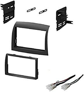 ASC Audio Car Stereo Dash Install Kit and Wire Harness for Installing an Aftermarket Double Din Radio for 2004 2005 2006 2007 2008 2009 2010 Toyota Sienna - No Factory Premium Amp