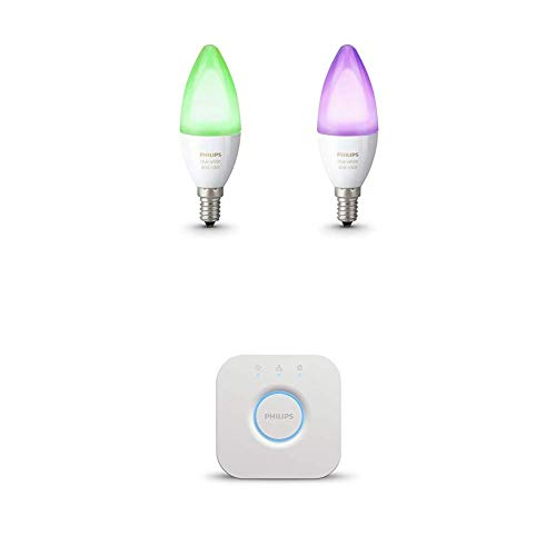 Philips Hue Kit de démarrage 2 ampoules White & Color E14 +...
