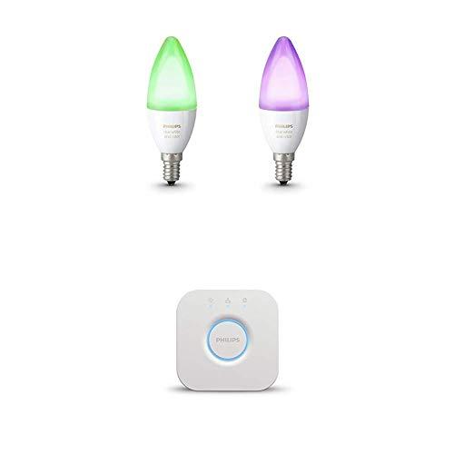 Philips Hue Kit de démarrage 2 ampoules White & Color E14 +...